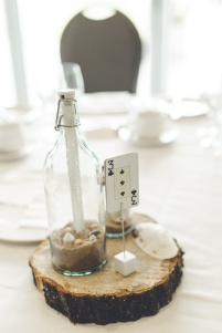 Alice, Fiona + I made all these message in a bottles and jars. My dad cut the wood. And the cards were a very last minute idea (like day before the wedding kind of thing) because I realised I forgot to make table numbers but I think they worked!