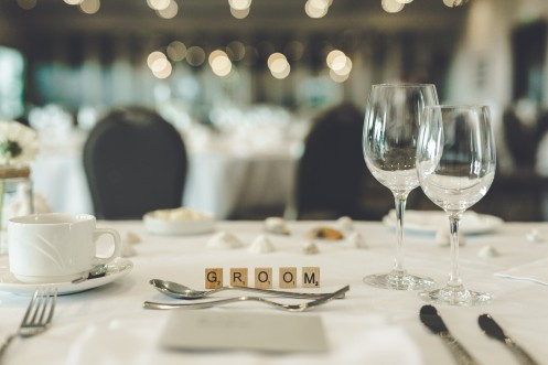 Scrabble letter for the top table!