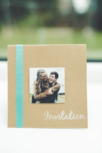 These invites took a billion weeks to make. They are folded and inside there is a pocket with three inserts stating times, menu, and instructions on how to RSVP.